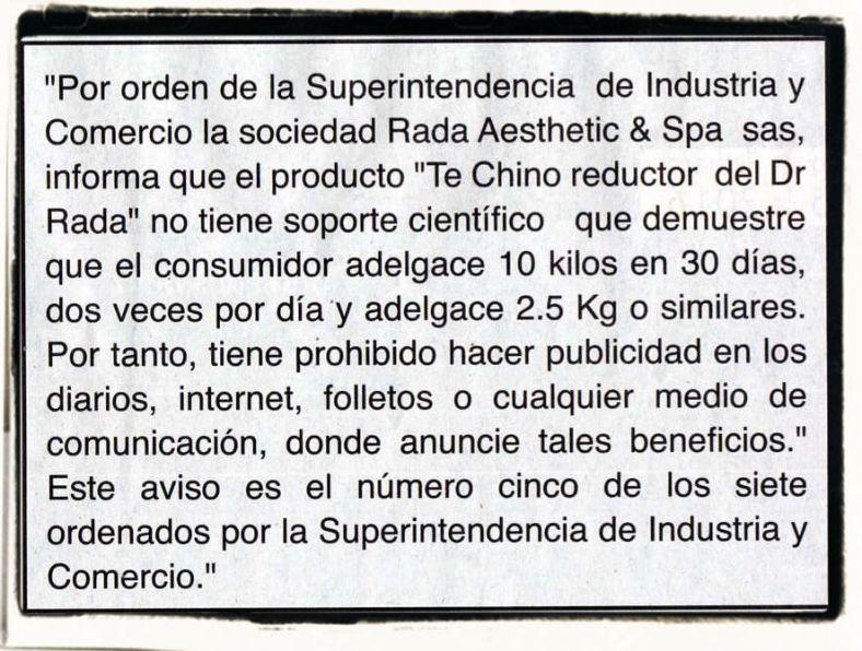 Aviso 5 de 7   Imagen vía El Tiempo, lunes 10 de febrero de 2014